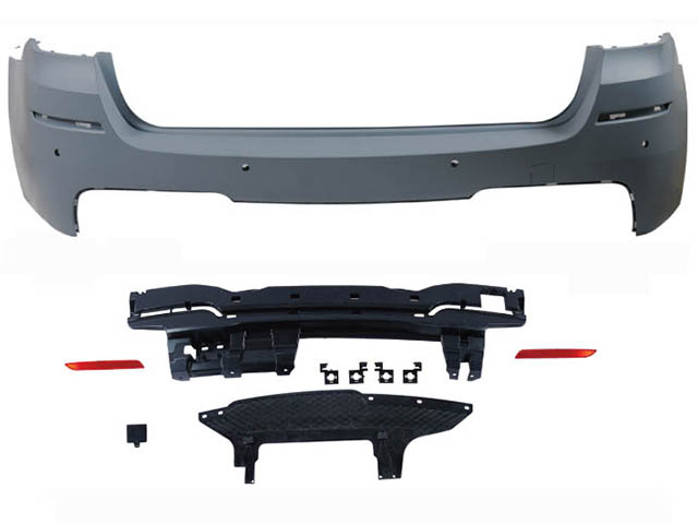 BMW 4 SERIES F32 REAR BUMPER  ASS'Y W/O PDC HOLE W/ SINGLE OUTLET (00--)